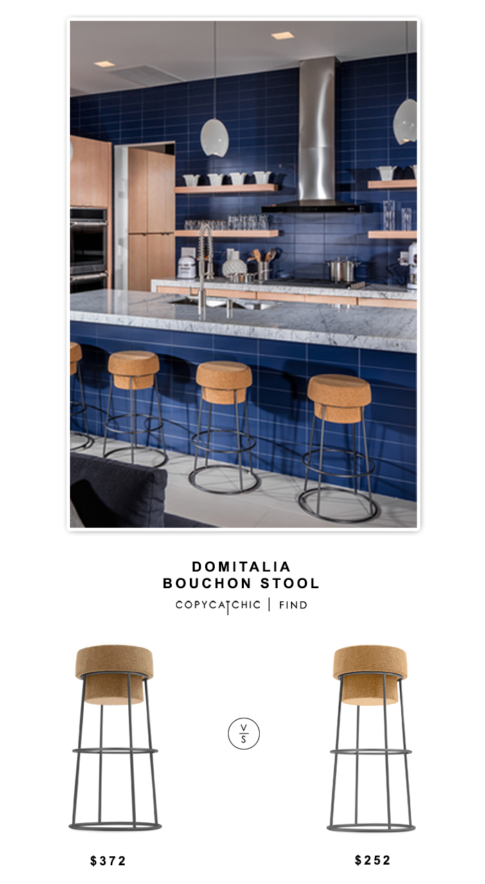 Ultramodern DomItalia Bouchon Cork and Graphite Barstool for $372 vs Lumens Domitalia Bouchon Stool for $252 | @copycatchic home decor look for less