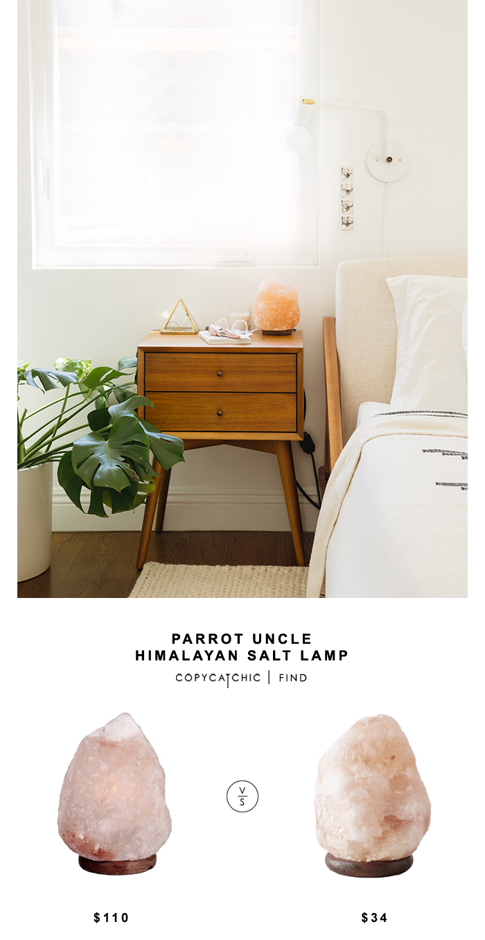 Houzz Parrot Uncle Himalayan Salt Lamp for $110 vs Urban Outfitters Himalayan Salt Lamp for $34 | @copycatchic look for less, budget home decor and design