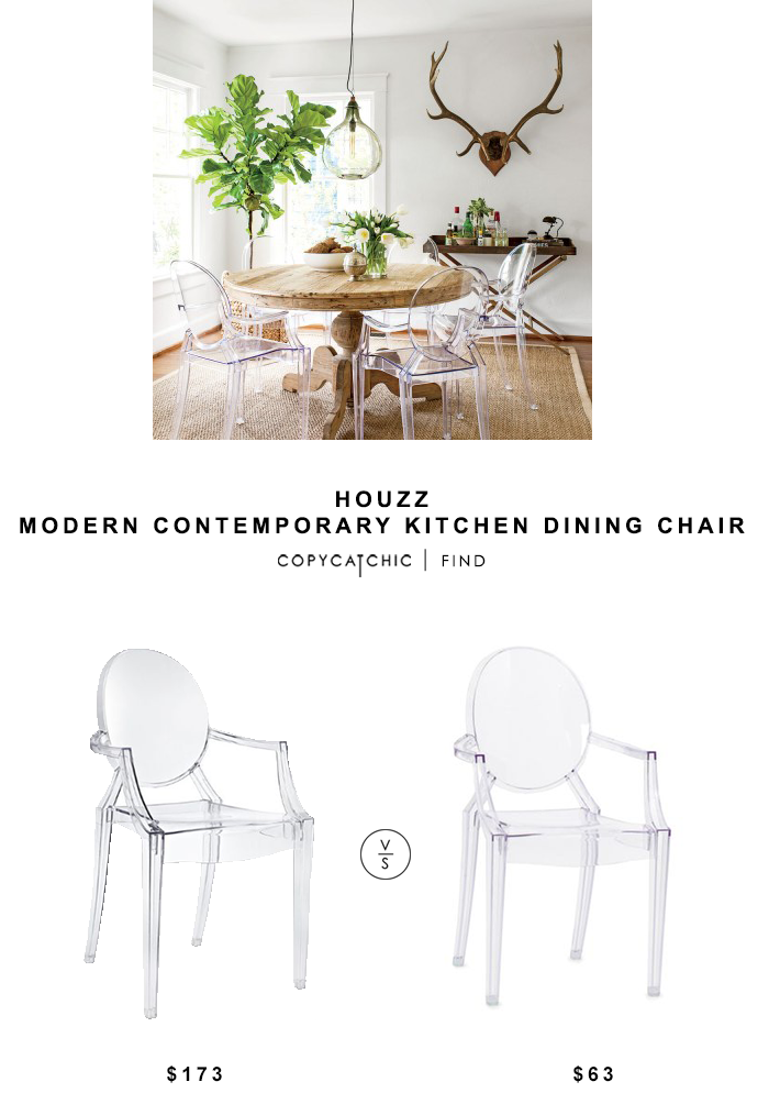 Houzz Modern Contemporary Kitchen Dining Chair for $173 vs Stuctube Luxe Dining Chair for $63 | @copycatchic look for less budget home decor and design