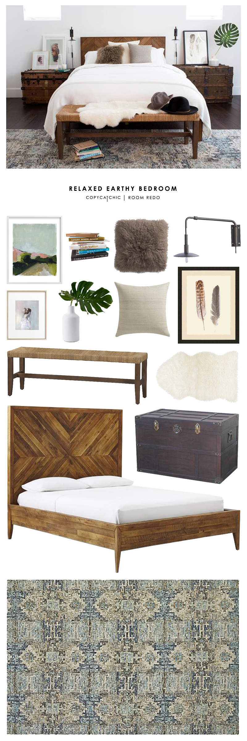 copy cat chic room redo relaxed earthy bedroom copy