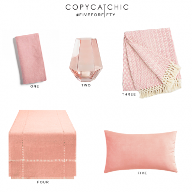 Five for Fifty | Blush Decor from World Market