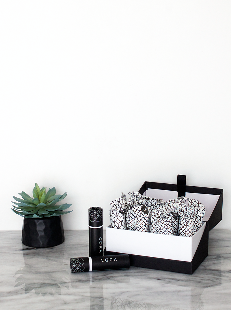 Minimalist Modern Bathroom Supplies | Cora Organic Tampon Subscription | Decluttering the bathroom and organizing it with eco-friendly products while giving it a minimalist look. @copycatchic | home decor and design