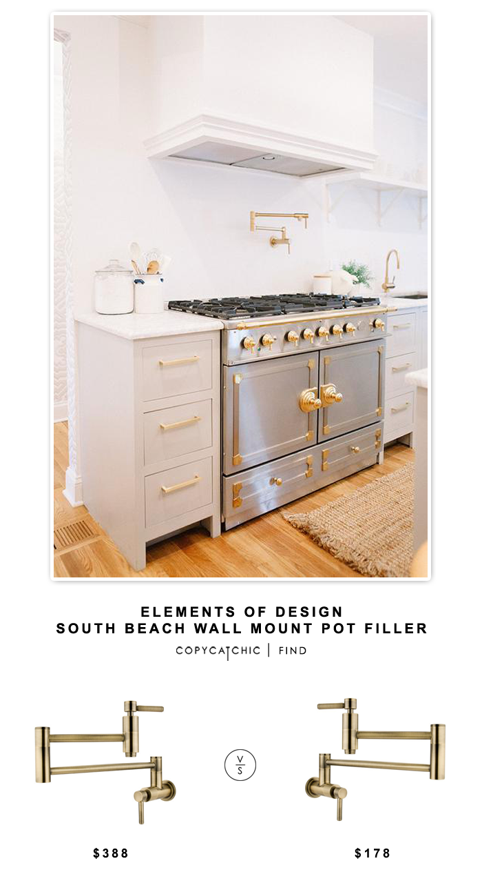Wayfair Elements of Design South Beach Wall Mount Pot Filler for $370 vs Overstock Kingston Brass Concord Antique Brass Pot Filler for $178 | @copycatchic