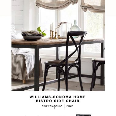Williams-Sonoma Home Bistro Side Chair for $150 vs Living Spaces Dover Black Side Chair for $95 | @copycatchic budget home decor and design looks for less