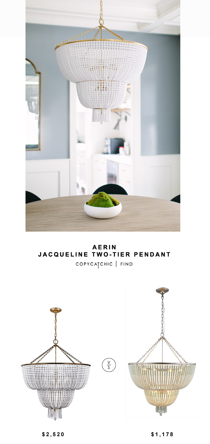 Aerin Jacqueline two-tier Pendant for $2520 vs Wayfair Signature 12 Light Crystal Chandelier for $1178 | @copycatchic look for less budget home decor
