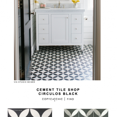 Cement Tile Shop Circulos Black Tile