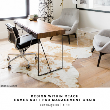 Design within Reach Eames Soft Pad Management chair for $3,059 vs Mod Born Eames Style Office Chair for $413 | @copycatchic look for less budget home decor