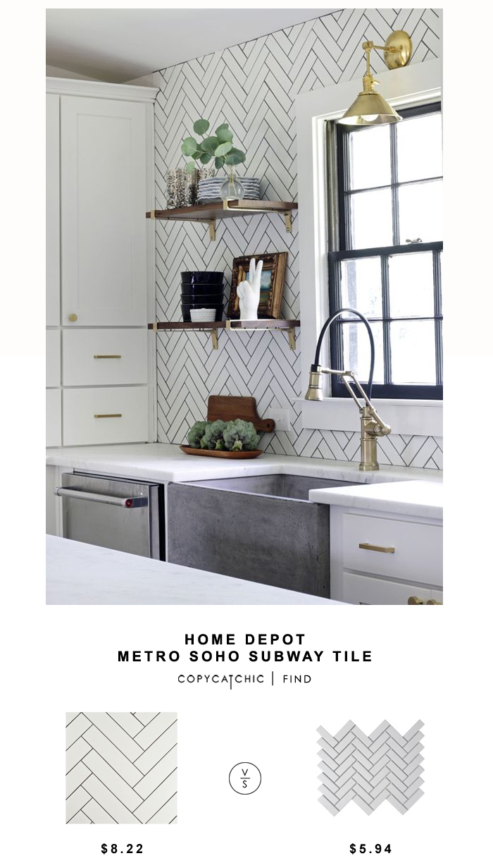 Home Depot Metro Soho Subway Tile - copycatchic