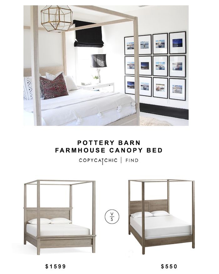 Pottery Barn Farmhouse Canopy Bed Copycatchic