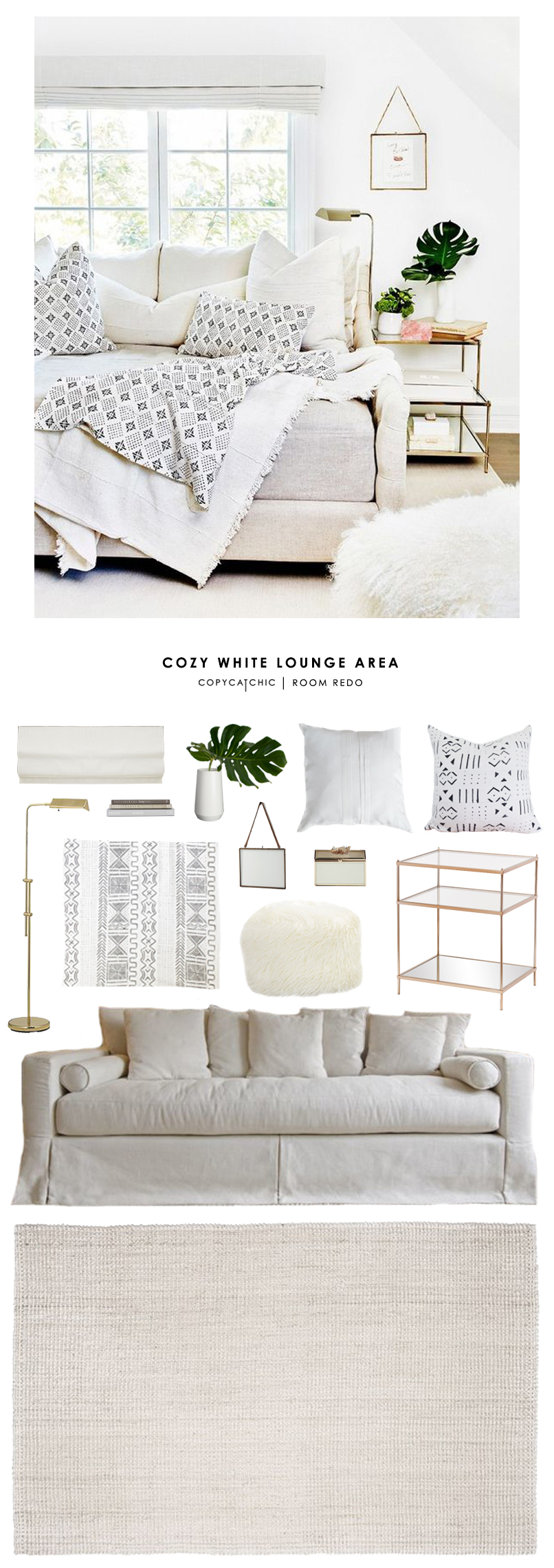 This cozy daybed nook showcasing Erin Fetherston's Home collection gets recreated for less by @copycatchic | budget home decor and design for less