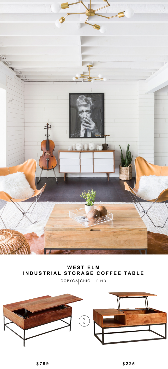 West Elm Industrial Storage Coffee Table Copycatchic