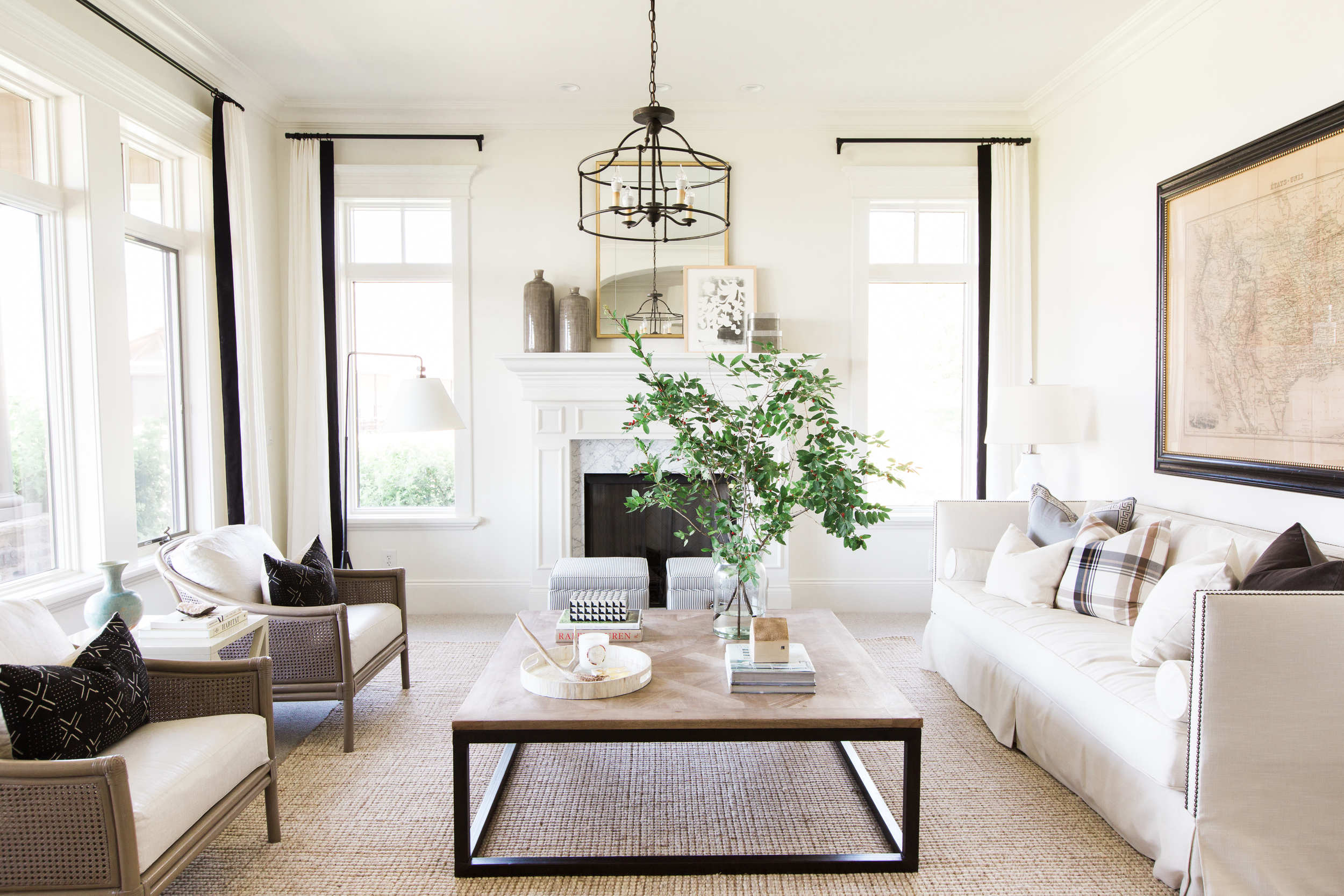An earthy, textural living room designed by Studio McGee and recreated for less by @copycatchic | budget home decor for less