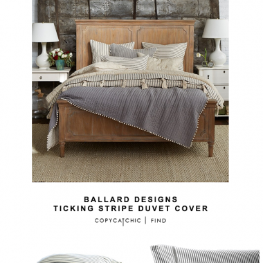 Ballard Designs Ticking Stripe Duvet Cover