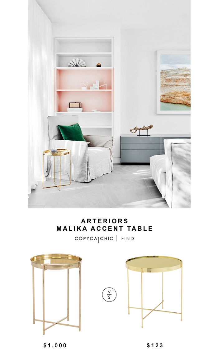Arteriors Malika Accent Table for $1000 vs Trinity Side Table for $123 @copycatchic look for less budget home decor and design chic find