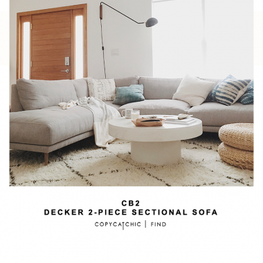 CB2 Decker 2-piece Sectional Sofa for $2,800 vs Ikea Nockeby Sectional for $1100 @copycatchic look for less budget home decor design chic find