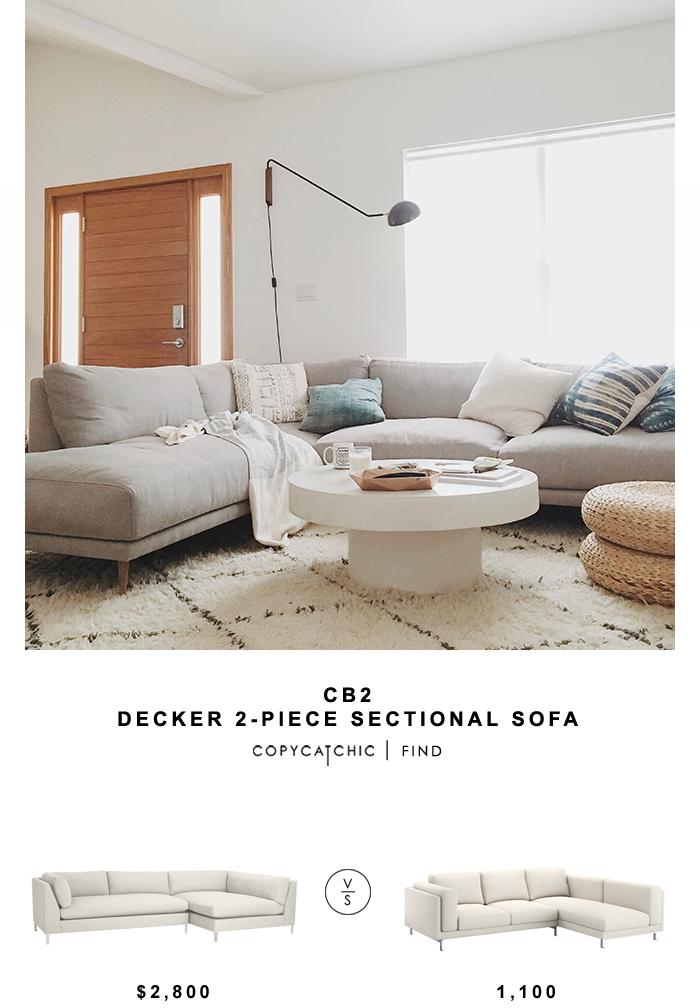 Cb2 Decker 2 Piece Sectional Sofa Copycatchic