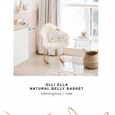 Olli Ella Natural Belly Basket
