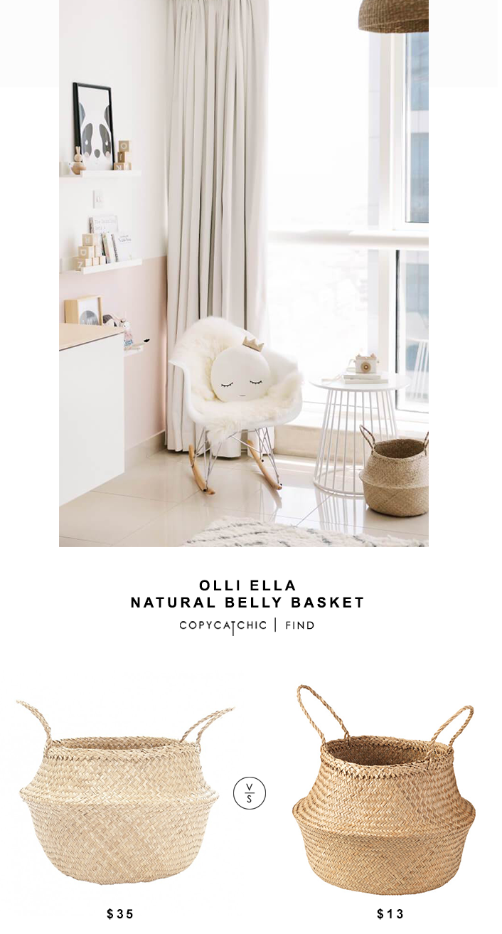 Olli Ella Natural Belly Basket for $35 vs Ikea Fladis Basket for $13 @copycatchic look for less budget home decor and design chic finds