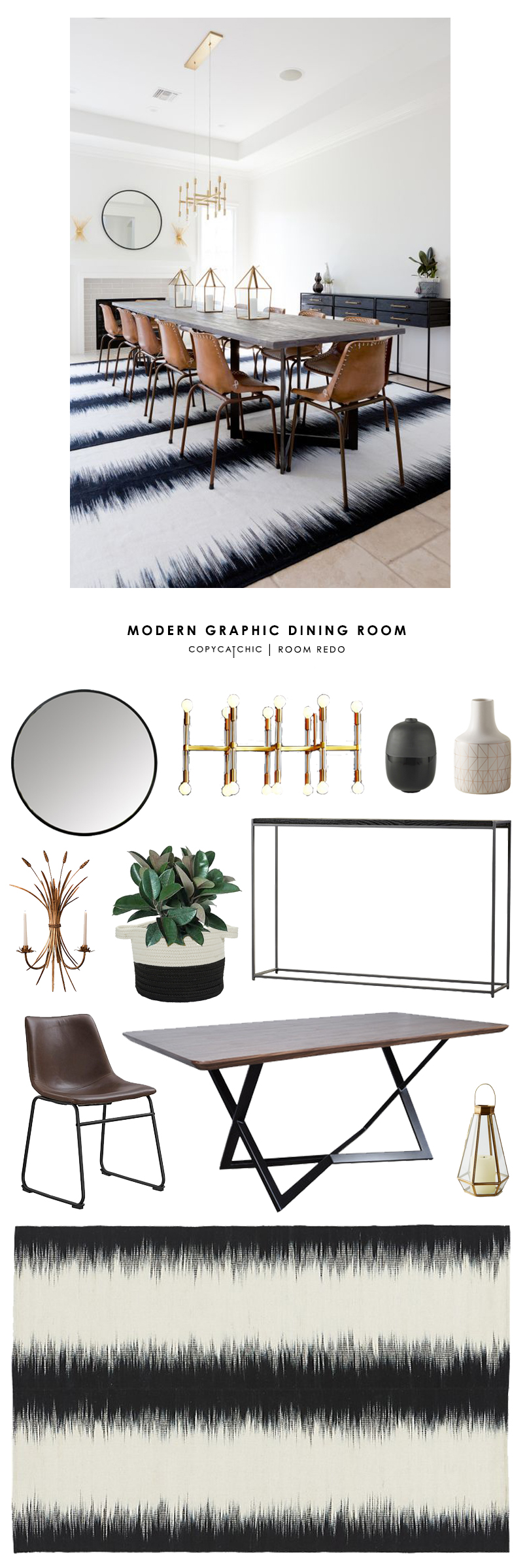 Copy Cat Chic Room Redo Modern Graphic Dining Room