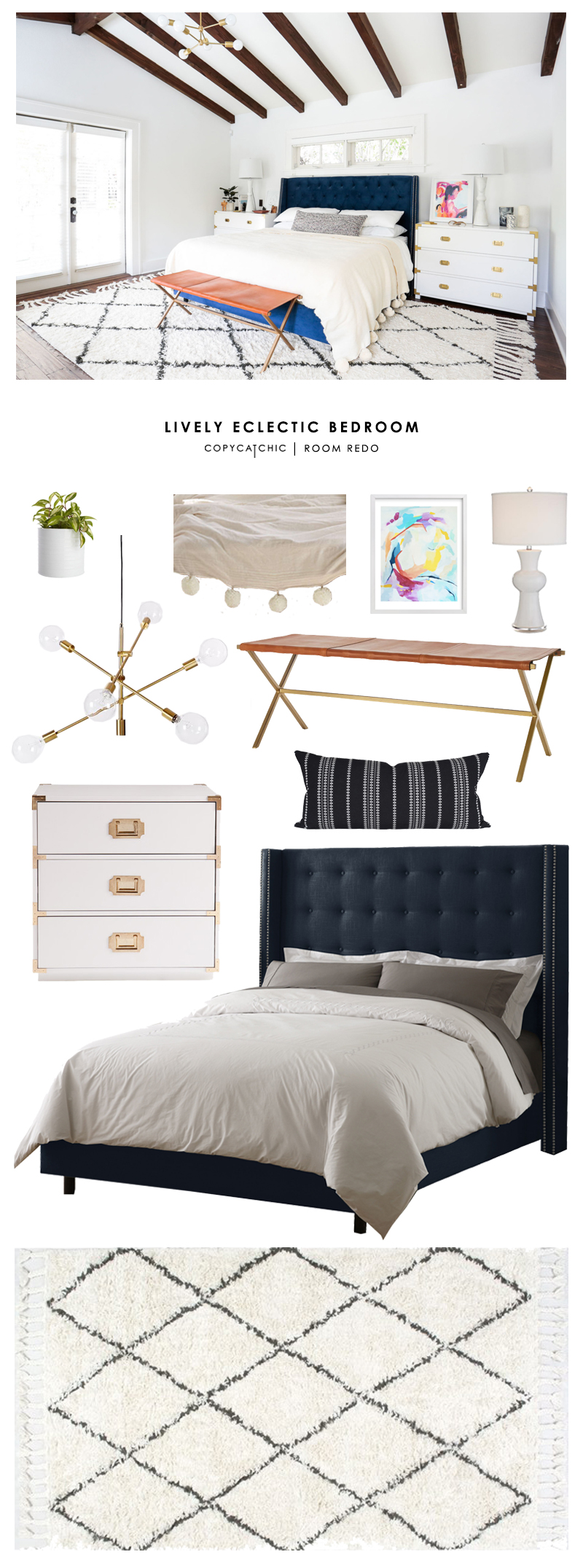 Copy Cat Chic Room Redo Lively Eclectic Bedroom Copy