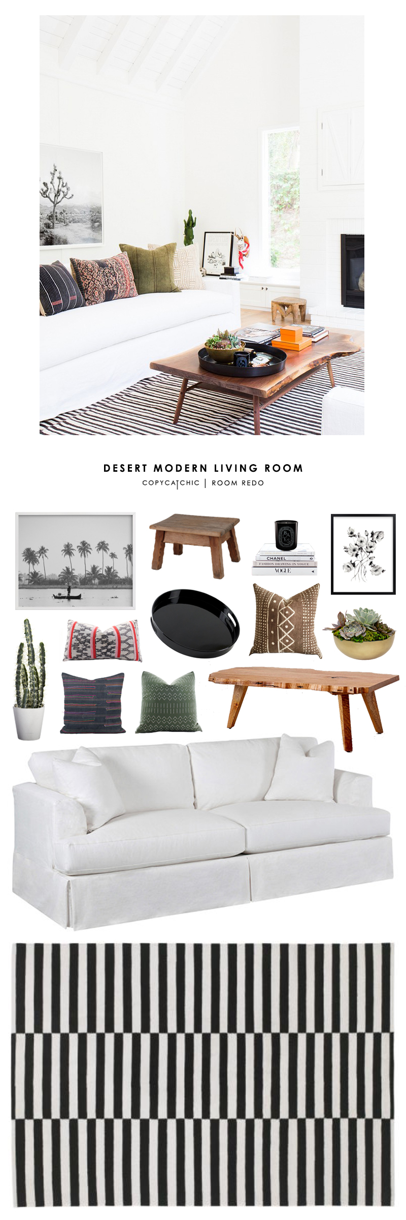 Copy Cat Chic Room Redo Desert Modern Living Room