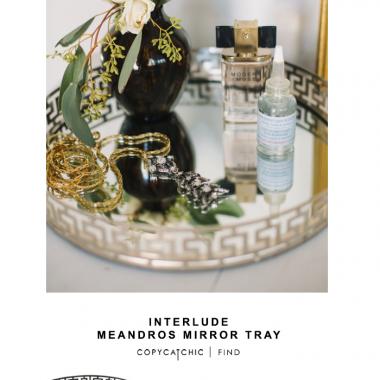Interlude Meandros Mirror Tray