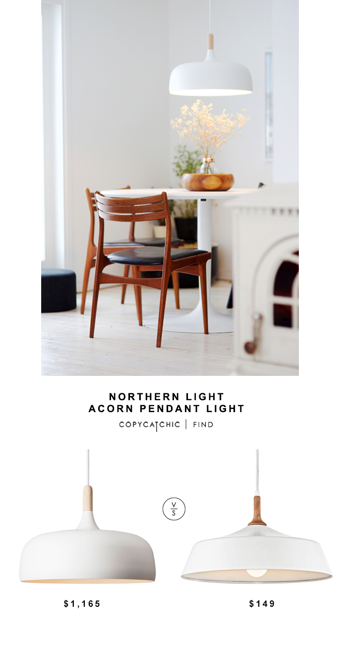 Northern Light Acorn Pendant Light for $1,165 vs Kichler Danika Pendant Light for $149 @copycatchic look for less budget home decor design