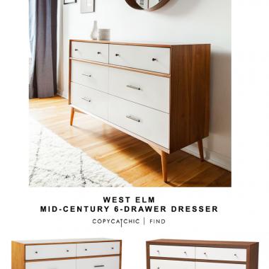West Elm Mid-Century 6-Drawer Dresser