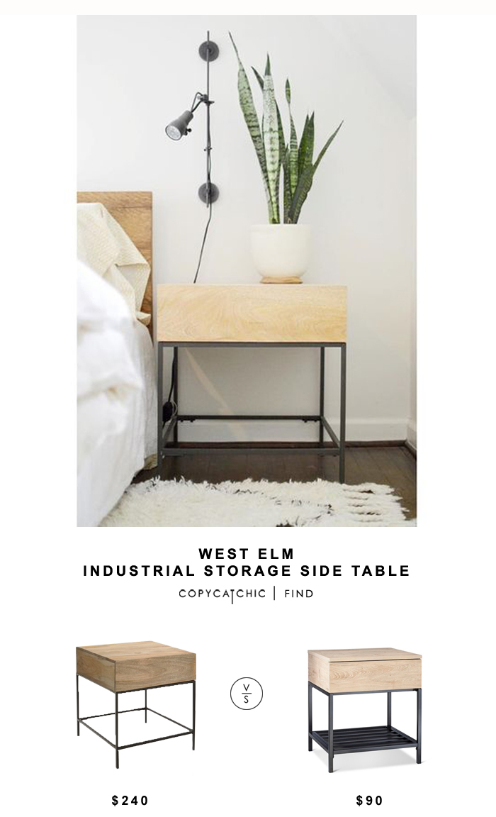 West Elm Industrial Storage Side Table for $240 vs Target Darley End Table for $80 Copy Cat Chic luxe living for less look for less budget home decor design