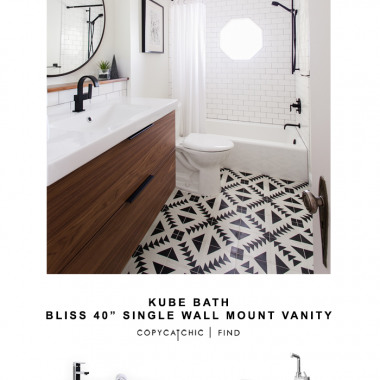 Kube Bath Single Wall Mount Vanity for $860 vs Ikea Godmorgon Odensvik Sink Cabinet for $349 @copycatchic look for less budget home decor design chic find