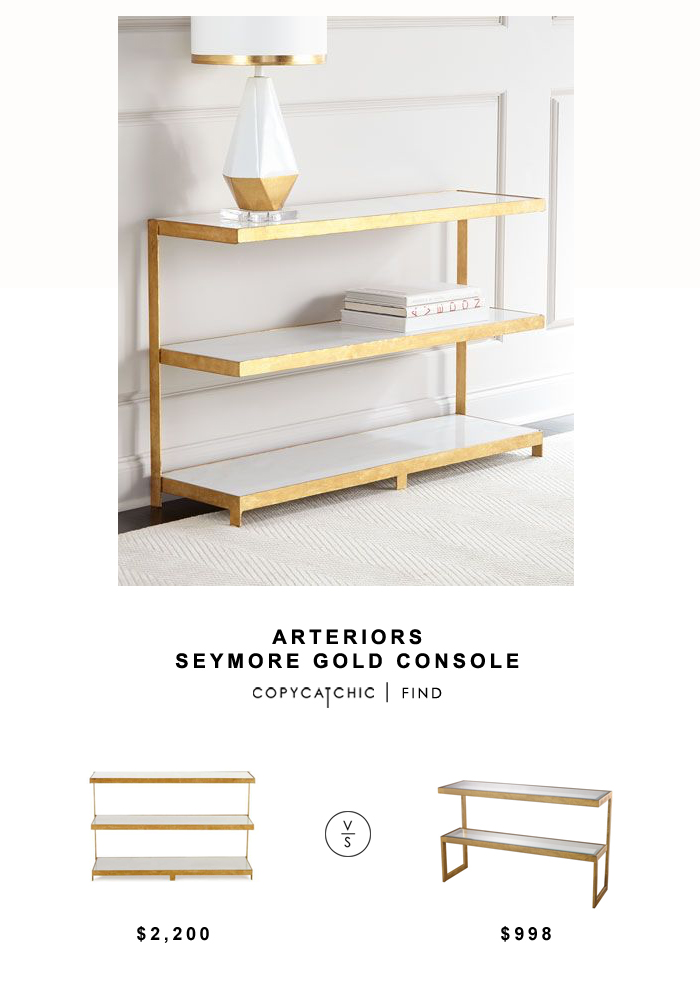 Neiman Marcus Arteriors Seymore Gold Console For $2,200 Vs Overstock LS  Dimond Home Gold Leaf Console
