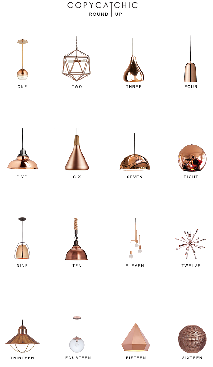 Home trends copper pendant lighting copycatchic our fave copper lighting picks by copy cat chic luxe living for less budget home decor aloadofball Images