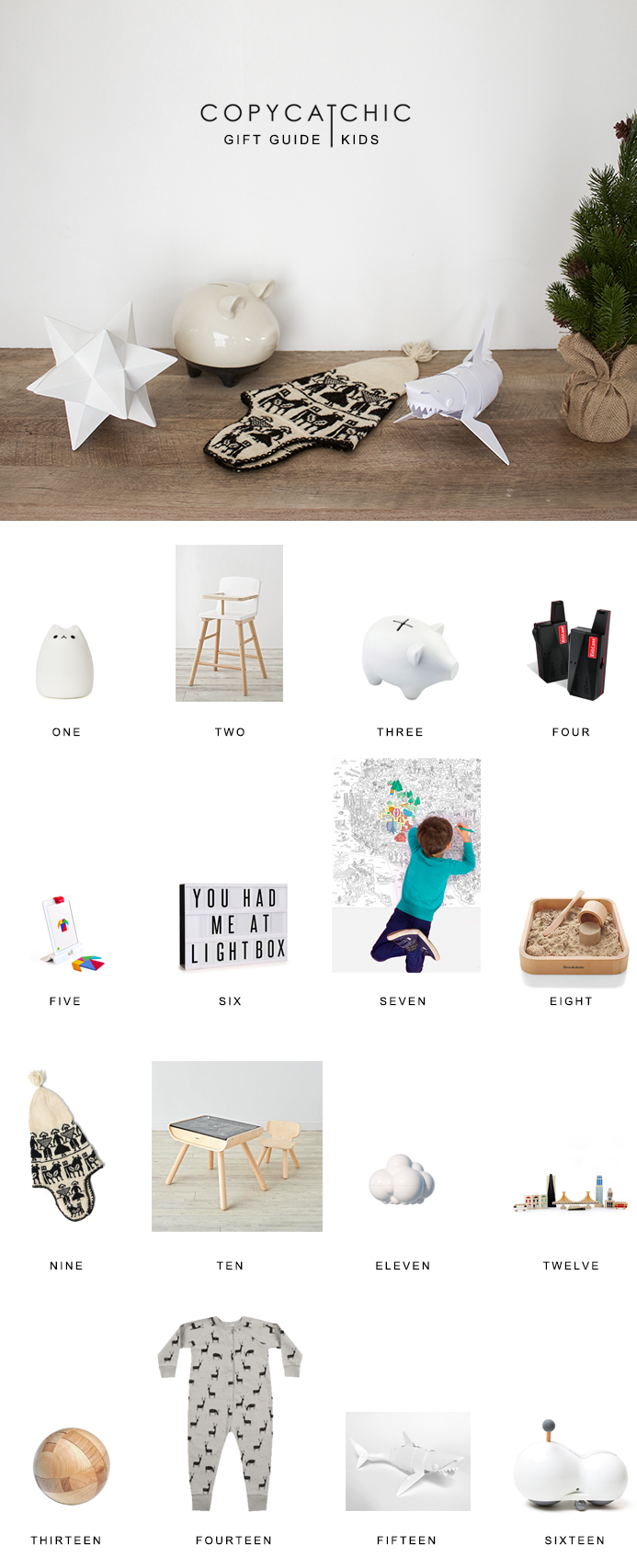 Christmas gifts for children   Copy Cat Chic favorites for 2016 for those cute kids holiday season!   Luxe living for less   modern and minimalist toys