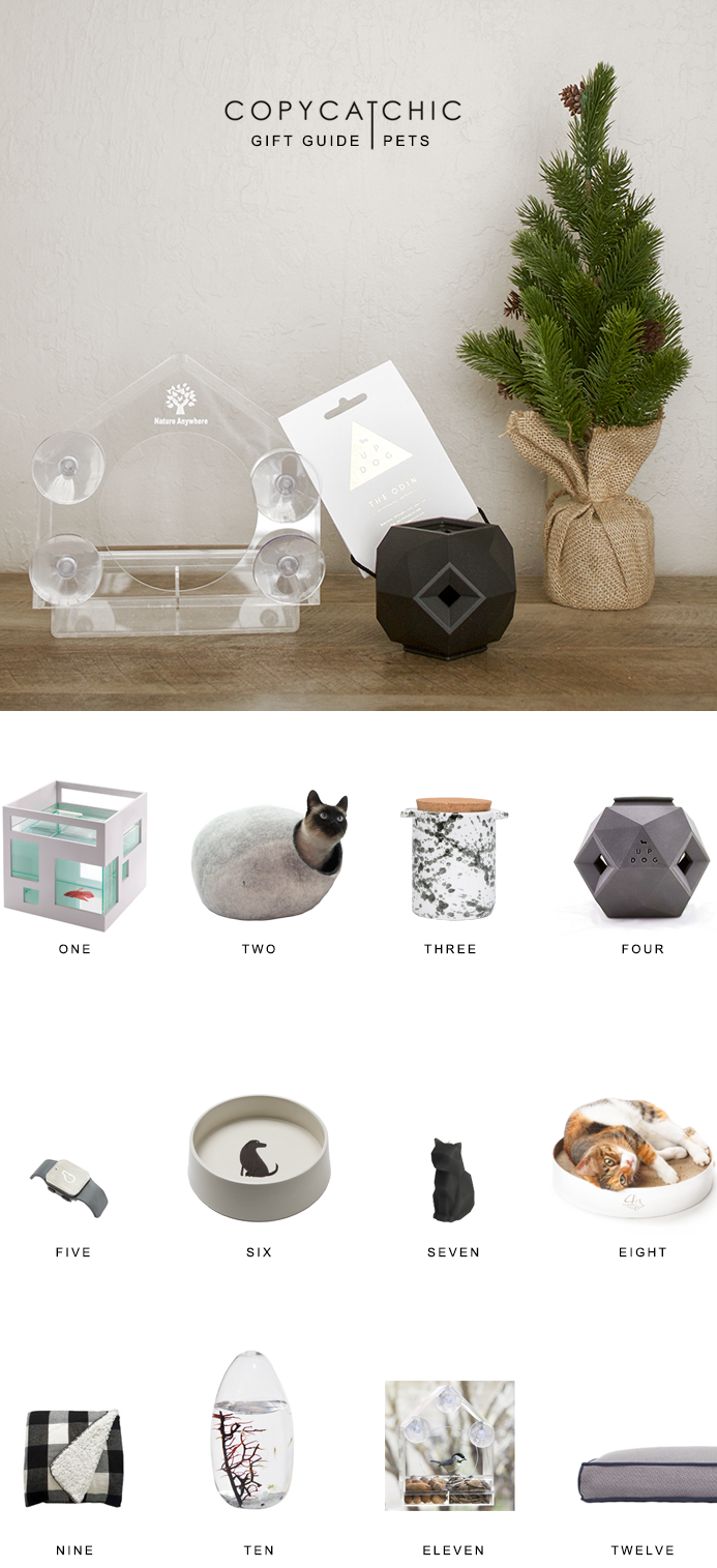 Modern minimalist pet accessories for animal lovers. Christmas gift guide | Copy Cat Chic pet favorites for the 2016 holiday season! | Luxe living for less