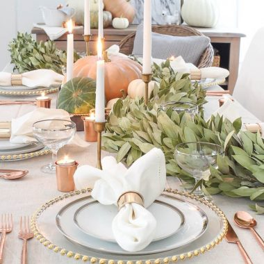 Our favorite Thanksgiving decor for a festive holiday with friends and family. Copy Cat Chic luxe living for less budget home decor and design