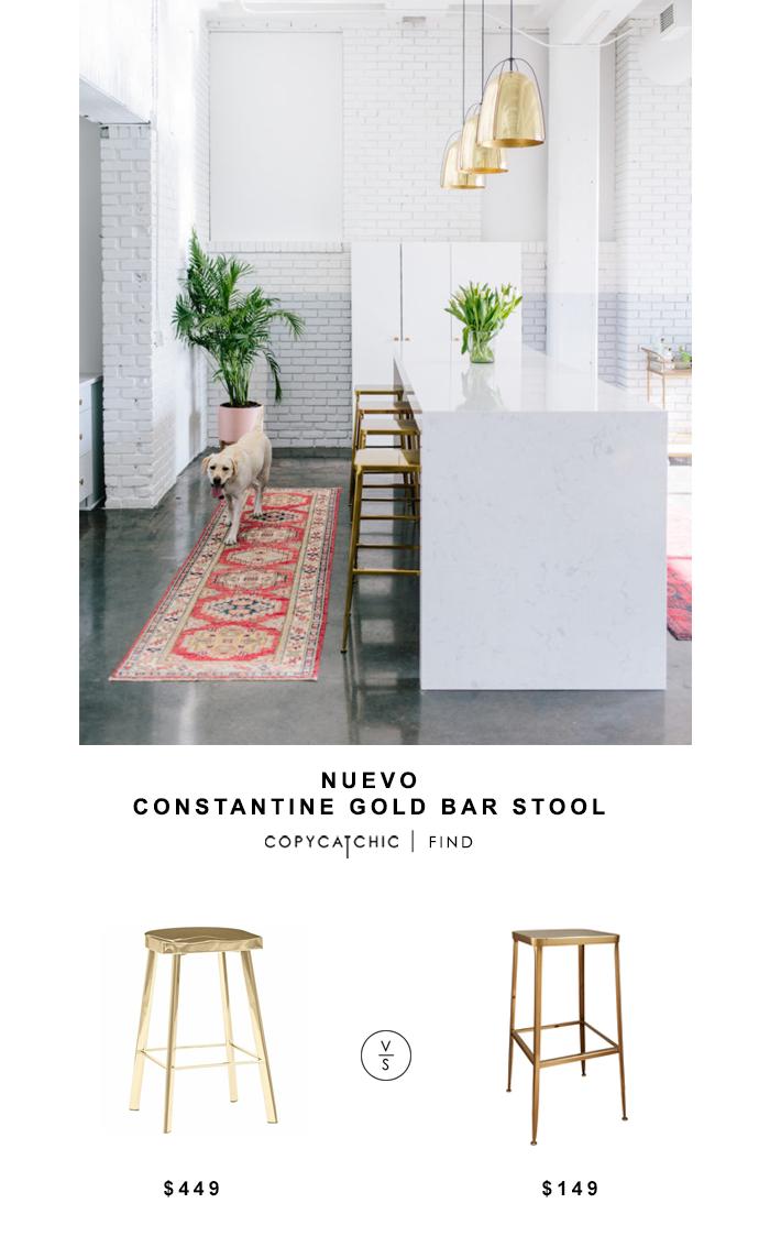 Nuevo Constantine Gold Bar Stool For 449 Vs Cb2 Flint