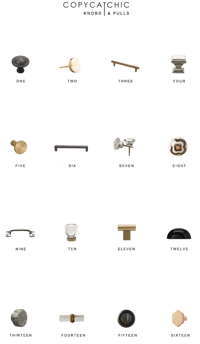 The latest trends and popular hardware styles for your home renovation. Our fave hardware picks by Copy Cat Chic luxe living for less budget home decor