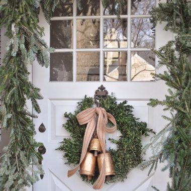 How to create a holiday front entry in five steps with @worldmarket and @copycatchic luxe living for less holiday home decor design on a budget