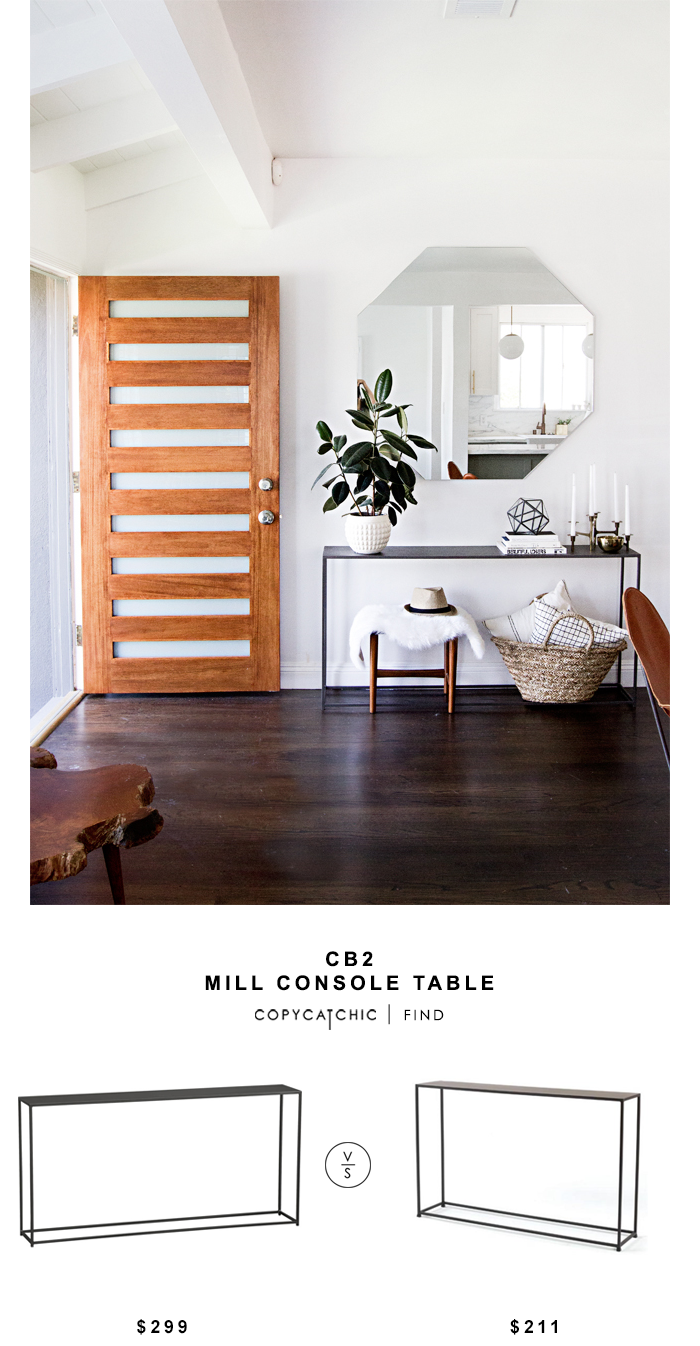 CB2 Mill Console Table
