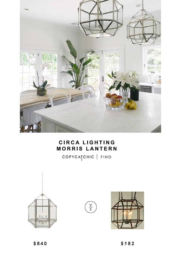Circa Lighting Susan Kasler Morris Lantern for $840 vs Ballard Designs Clive Lantern for $182 Copy Cat Chic luxe living for less budget home decor & design