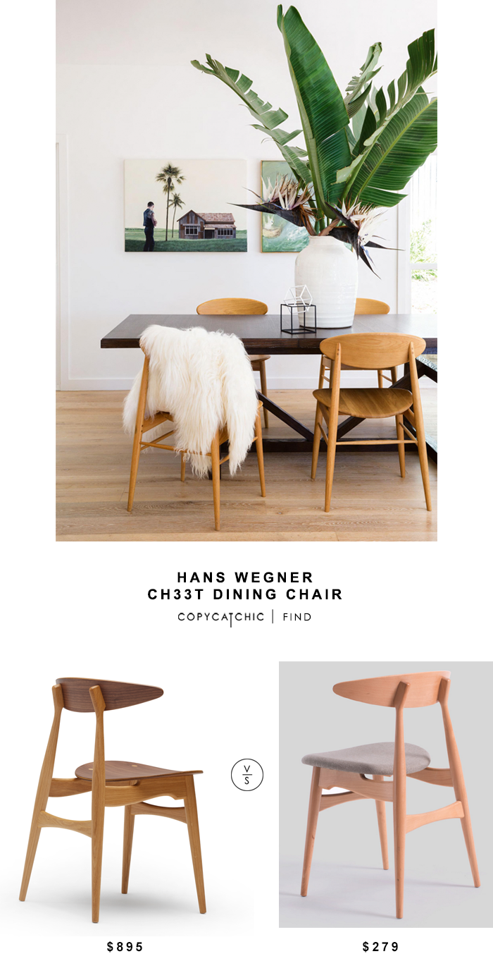 Lumens Hans Wegner Ch33t Chair for $895 vs Inmod Hands Wegner Midcentury Ch33p Chair for $279 Copy Cat Chic luxe living for less budget home decor & design
