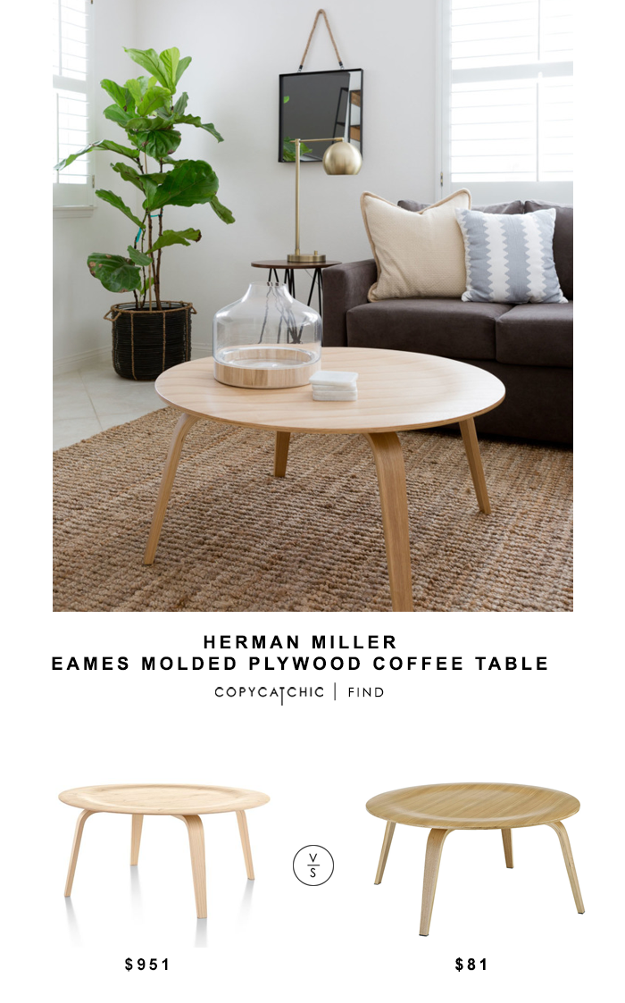 Herman Miller eames Molded Plywood Coffee Table for $951 vs Target Modway Eames Plywood Coffee Table for $81 Copy Cat Chic luxe living for less budget home