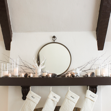 A Holiday Mantel for Under $50