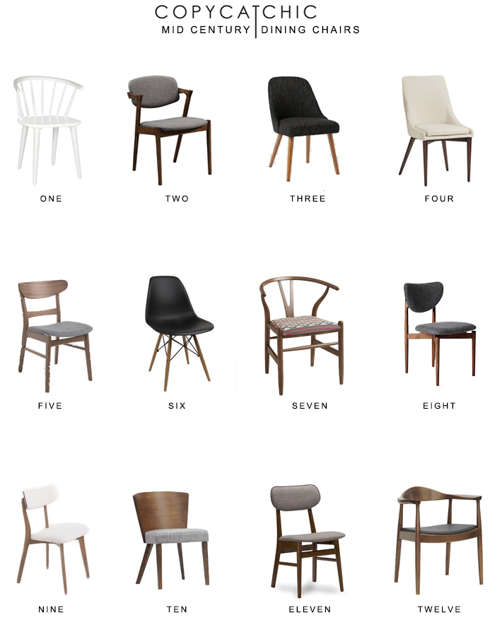 mid century dining chairs Mid Century Dining Chair Round Up   copycatchic mid century dining chairs