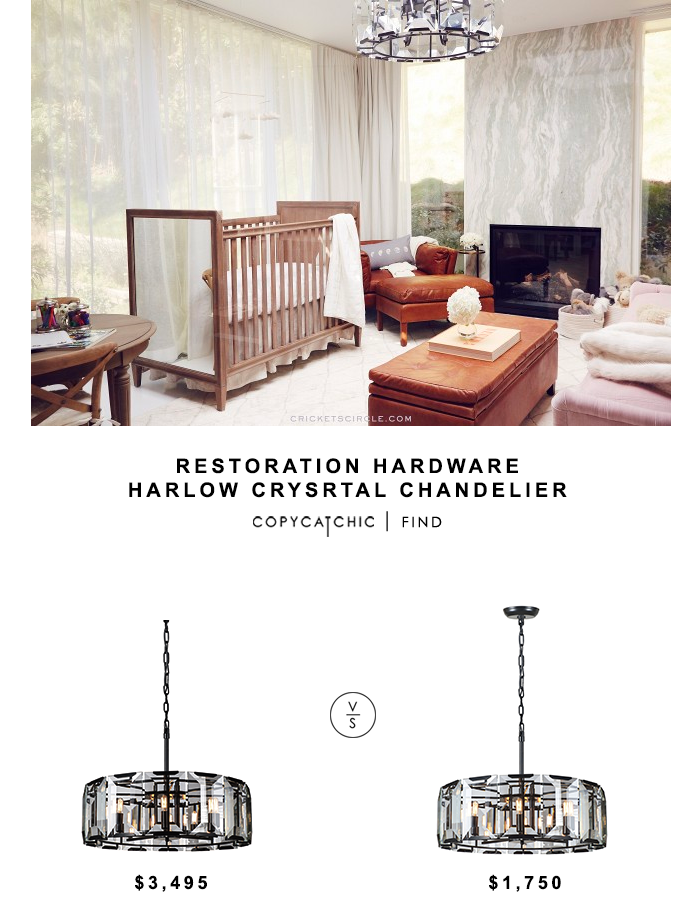 Restoration Hardware Harlow Crystal Chandelier for $3495 vs Wayfair Monaco Drum Pendant for $1750 Copy Cat Chic luxe living for less budget home decor