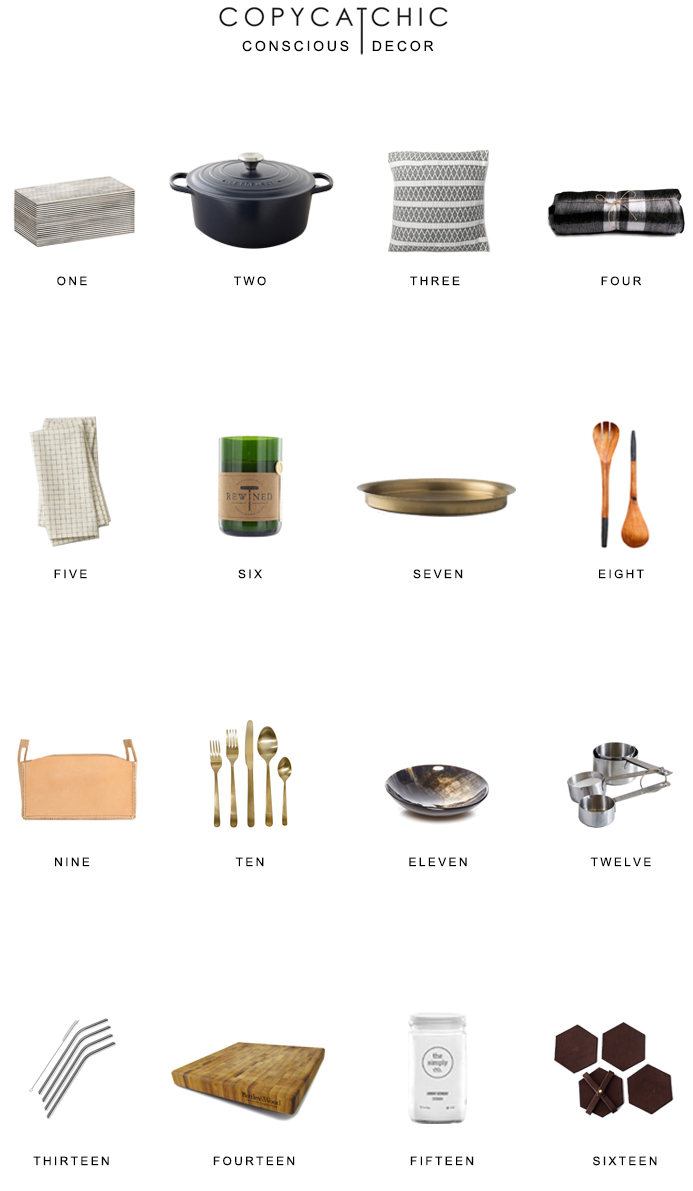 Conscious Home Decor our favorite green eco-friendly home accessories and decor || Copy Cat Chic luxe living for less budget home decor and design