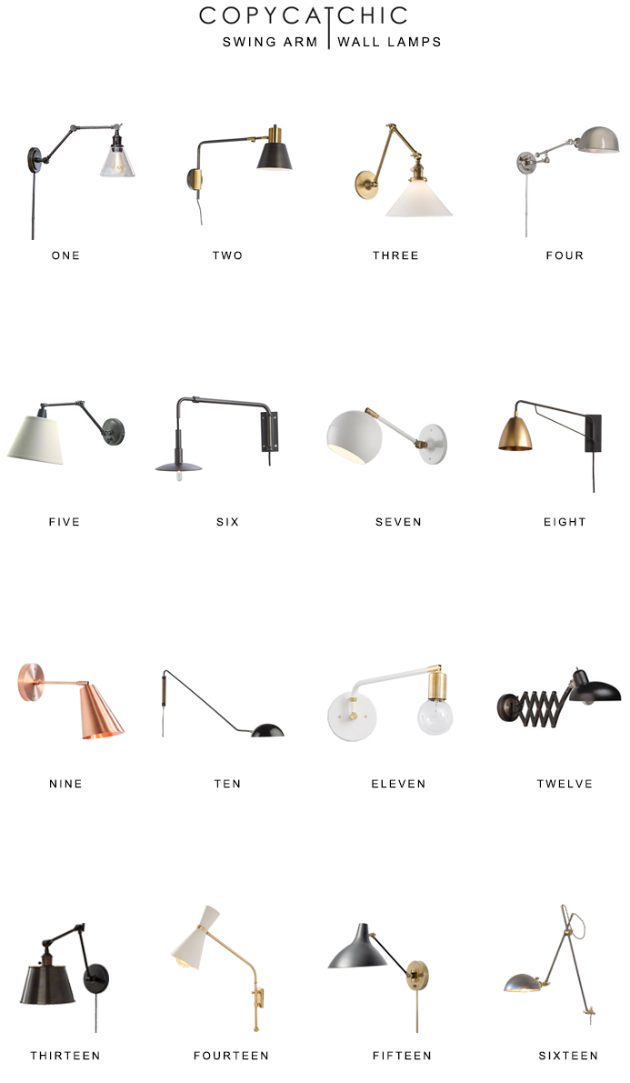 Favorite swing arm wall lamps. The latest swing arm sconces and lamps from traditional to modern. Copy Cat Chic luxe living for less budget home decor