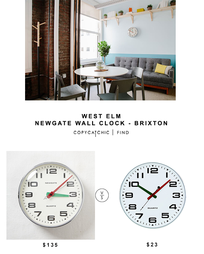 West Elm Newgate Wall Clock for $135 vs Amazon Tempus Slim Profile Wall Clock for $23 Copy Cat Chic luxe living for less budget home decor and design