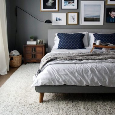 West Elm Mod Upholstered Platform bed