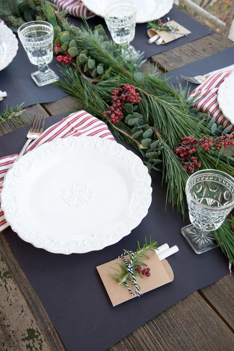 Home trends | Setting a Christmas table for holiday entertaining with Copy Cat Chic luxe living for less budget home decor and design